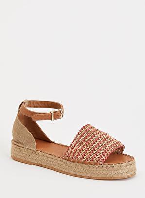 DeFacto Hasır Görünümlü Sandalet